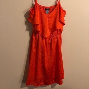 Flowy, Orange Summer Dress